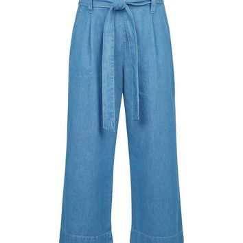 Blue Lightweight Denim Culottes | New Look