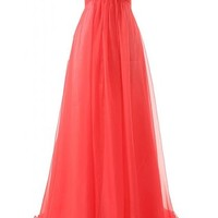 JAEDEN Girl's Sweetheart Charming Formal Evening Dresses Long Prom Gown Red US18W