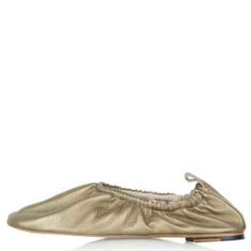 KAT High Vamp Ballet Shoes - Gold