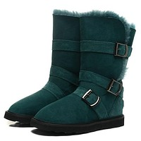 UGG Women Fur Leather Boots In Tube Boots Shoes