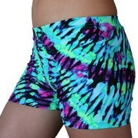 Neon Tie Dye Spandex Shorts Inseam in 3 Lengths