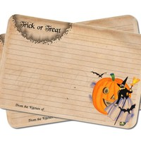 Witch Recipe Cards - Halloween Stationery - Trick or Treat - Pack of 12