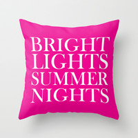 Bright Lights Summer Nights Throw Pillow by Deadly Designer