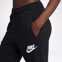 """NIKE""Trending Women Men Print Leisure Pants Trousers Sweatpants Sport Gym Pants Black I"
