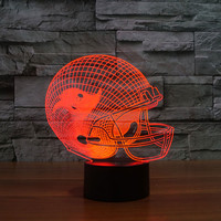 NFL Team Logo Collection Tampa Bay Buccaneers Sport Helmet Lamp 3D Visual Night Light Touch Button