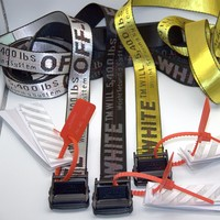 Hot Sale Off White OW C/O Virgil Abloh Belts Embroidery Hot ins Hip Hop Skateboard Kanye Belts