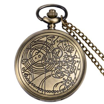 Doctor Who Men Pocket Watch Bronze/Silver/Black Round Shape 2017 New Arrival Retro Vintage Necklace Chain Fob Watch Gifts