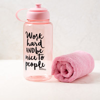 Work Hard Pink Work Out Set