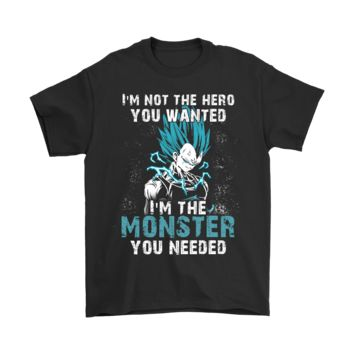 PEAPCV3 I'm Not The Hero You Wanted Vegeta Dragon Ball shirts