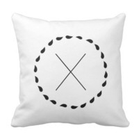 Minimalist Black White Custom Anniversary Pillows