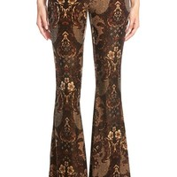 Women's Free People High Rise Velvet Flare Pants,