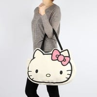 Hello Kitty Canvas Tote Bag: Pink Bow