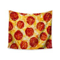 """""""Pepperoni Pizza Overload"""" Pizza Love Wall Tapestry"""