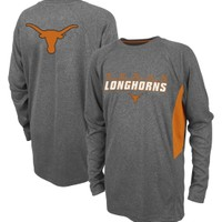 Colosseum Athletics Youth Texas Longhorns Grey Dive Long Sleeve Performance Shirt