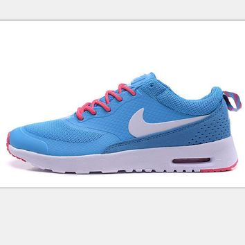 Nike Air Max Thea Print Casual Sports Shoes Sky blue-white hook