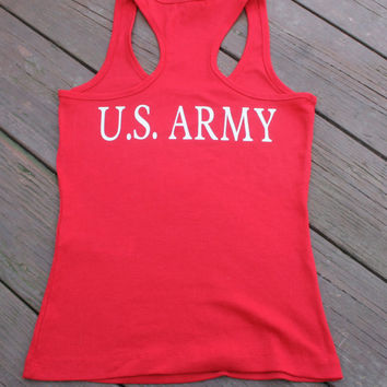 ANY BRANCH. U.S. Army on back of tank top