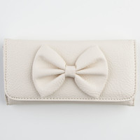 Faux Leather Bow Wallet 228666160 | Wallets