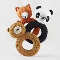 Baby Gear: Plush Animal Rattles in Baby Toys | The Land of Nod