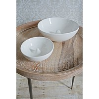 Minimalist  Pure White Bowl Set
