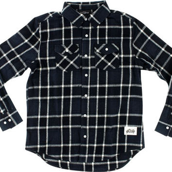 Grizzly North American Flannel Longsleeve Large Black/Grey