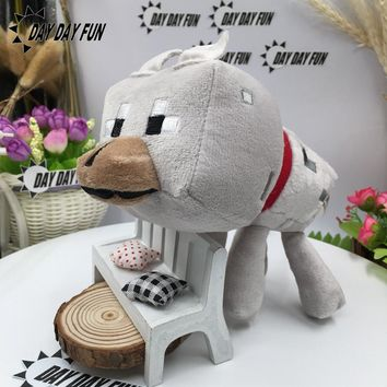 Minecraft Plush Toys 22cm My World Zombie Ghost Doll Wolf Enderman Ocelot Stuffed Animals TNT Strange Sheep  style