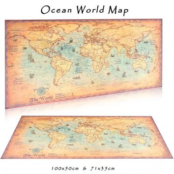 Large World Map vintage posters adornment retro print paper wall stickers posters world for wall pictures maps
