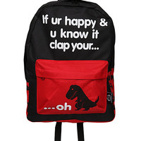 Goodie Two Sleeves If Ur Happy & You Know It Dinosaur Backpack | Hot Topic