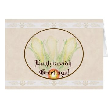 Blessings At Lughnasadh Pagan Witch Wicca Triquetr Card