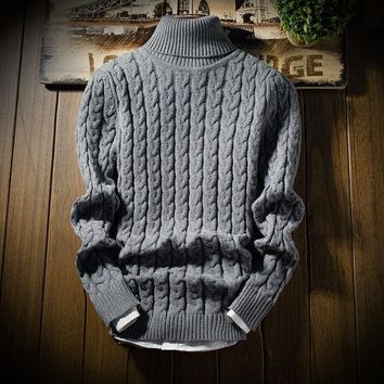 BKTrend 2017 New Fashion Men's Turtleneck Sweater Thick Warm Male Winter Pullovers Man's Knitwear Slim Fit Brand Clothes MY8826