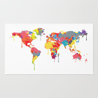 World Map Rug by ArtisanObscure Prints