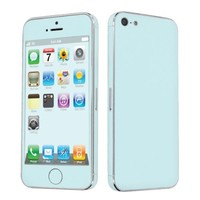 SkinGuardz Vinyl Decal Protective Sticker Skin for Apple iPhone 5 - (Ice Blue)