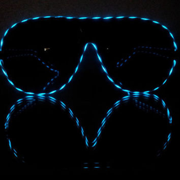 Moxie Glares, led glasses, light up sunglasses, diffraction glasses