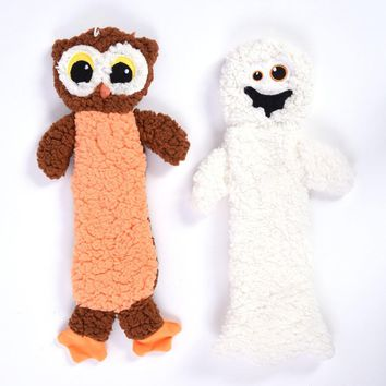 Halloween Plush Pet Toy - Owl and Ghost - CASE OF 24
