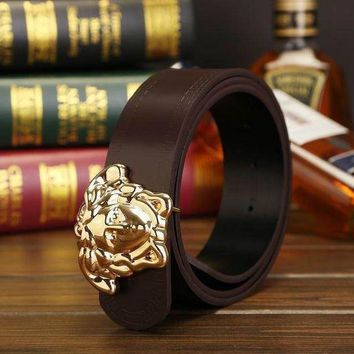 Leather Belt Versace  Medusa