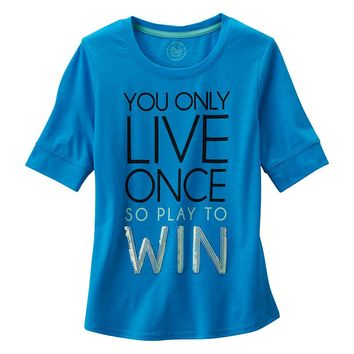 SO Active Graphic Print Tee - Girls 7-16 & Girls'