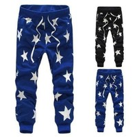 PEAPIX3 Men/Boys Stars Printing Hip Hop Sweatpants Sports Dance Casual Sagging Pants New [9221652996]