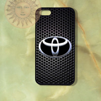 Toyota Logo Car -iPhone 5, 5s, 5c, 4s, 4, Ipod touch 5, Samsung GS3, GS4 case-Silicone Rubber or Hard Plastic Case, Phone cover