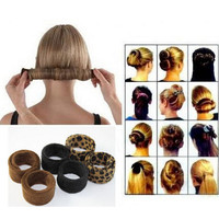 Hairagami Bun Tail  Black Leopard Women Styling Tools