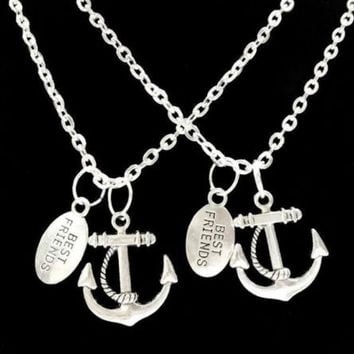 2 Necklaces You Are My Anchor Best Friends Forever BFF Couples Sisters Gift Set