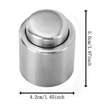 Free Shipping Stainless Steel Vacuum Sealed Red Wine Storage Bottle Stopper Plug Bottle Cap New 2015 ma