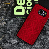 Red Damask Pattern Samsung Galaxy S6 Edge Plus Case|iPhonefy