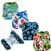 Designer Pocket Cloth Diaper with Snaps