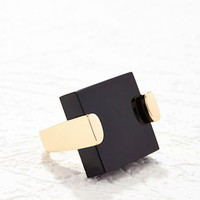 Square-Shape Cocktail Ring