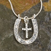 Horseshoe Cross Necklace