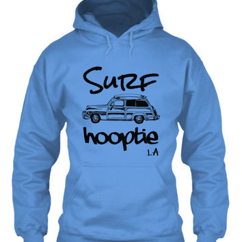 Men's Surf Hooptie LA Hoodie Vintage Woodie & Surfboards
