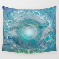Vishuddha: Throat Chakra Wall Tapestry by Brenda Erickson