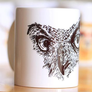 Black owl Ceramic Mug Coffee Cup Milk Mug With Handgrip 320ml Home Decoration 11oz