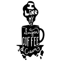 Sugar + Coffee Character-Type Wall Decal