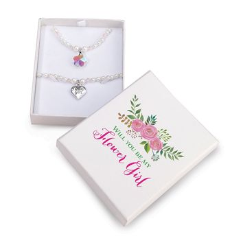 Lillian Rose Flower Girl Pearl and Crystal Necklace And Bracelet Boxed Set