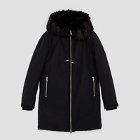 WATER REPELLENT PARKA WITH HOOD DETAILS